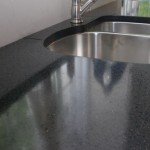 blue glass concrete countertop
