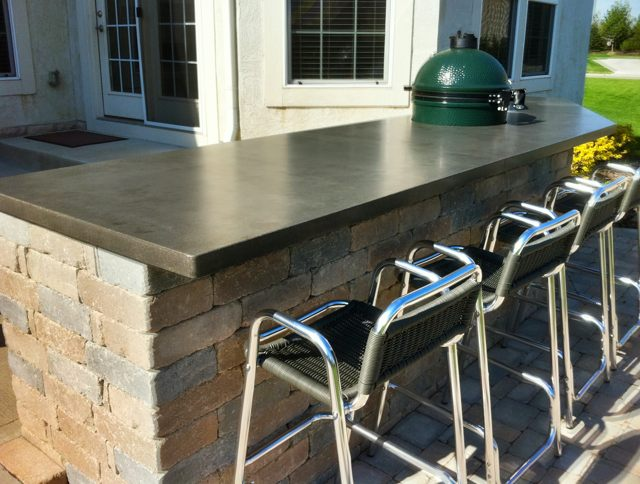 What a match made in heaven Outdoor kitchens and concrete countertops. CounterEvolutionu0027s high performance concrete countertops will add stunning good ... : outdoor kitchen concrete countertop - hauntedcathouse.org
